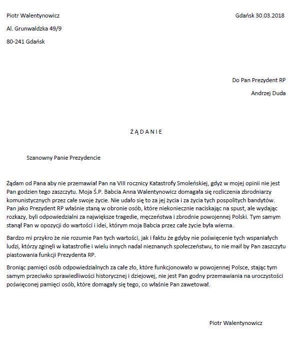 Gazeta Warszawska Listy Jakuba Goldszmita Do Józefa